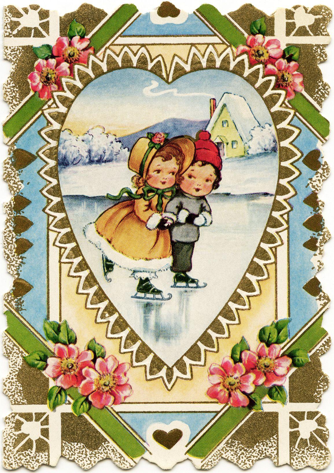 Free Vintage Valentine, Victorian Valentine Printable, Old Fashioned - Free Printable Vintage Valentine Clip Art