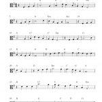 Free Viola Sheet Music Score, Danny Boy   Viola Sheet Music Free Printable