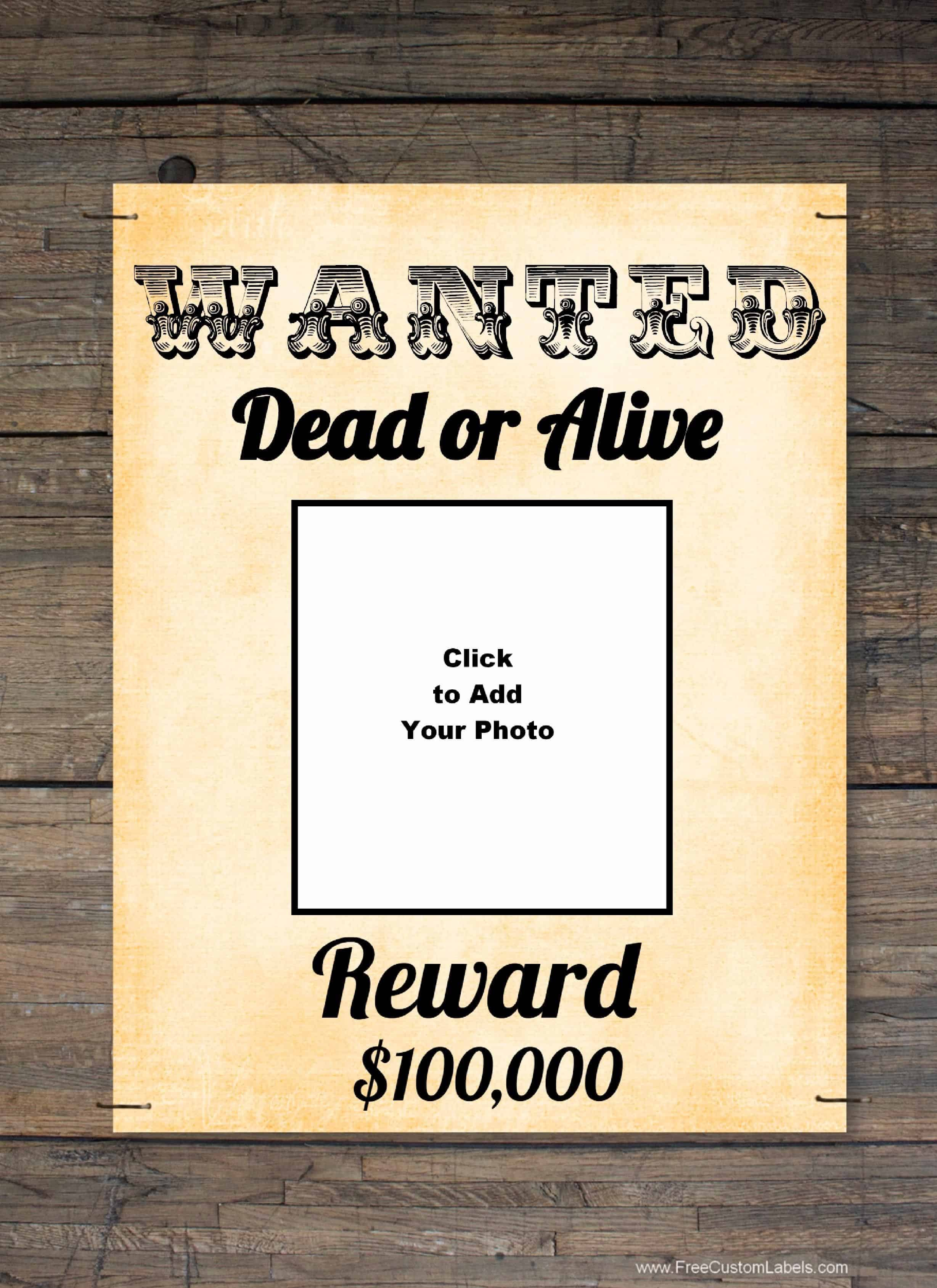 Free Wanted Poster Maker | Make A Free Printable Wanted Poster Online - Free Printable Poster Maker