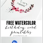 Free Watercolor Birthday Card Printables   Capturing Joy With   Free Printable Birthday Cards