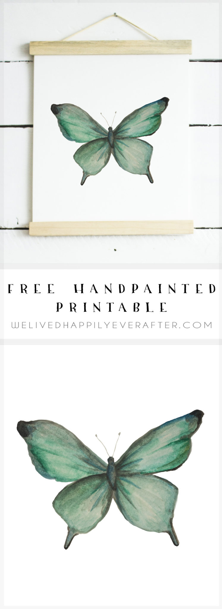 Free Watercolor Butterfly Printable | We Lived Happily Ever Afterwe - Free Printable Butterfly