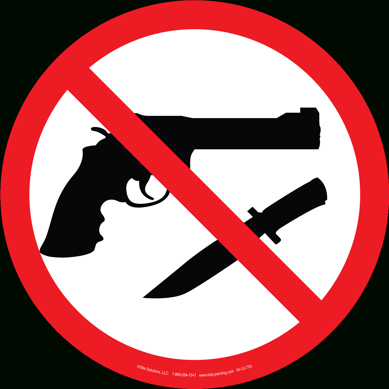 Free Weapons Cliparts, Download Free Clip Art, Free Clip Art On - Free Printable No Guns Allowed Sign