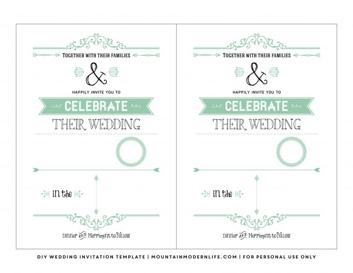 Free Printable Wedding Invitations With Photo