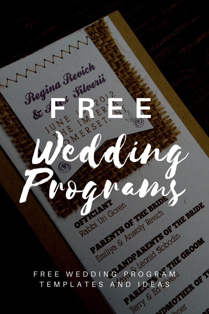 Free Wedding Program Templates   Wedding Program Ideas - Free Printable Wedding Program Samples
