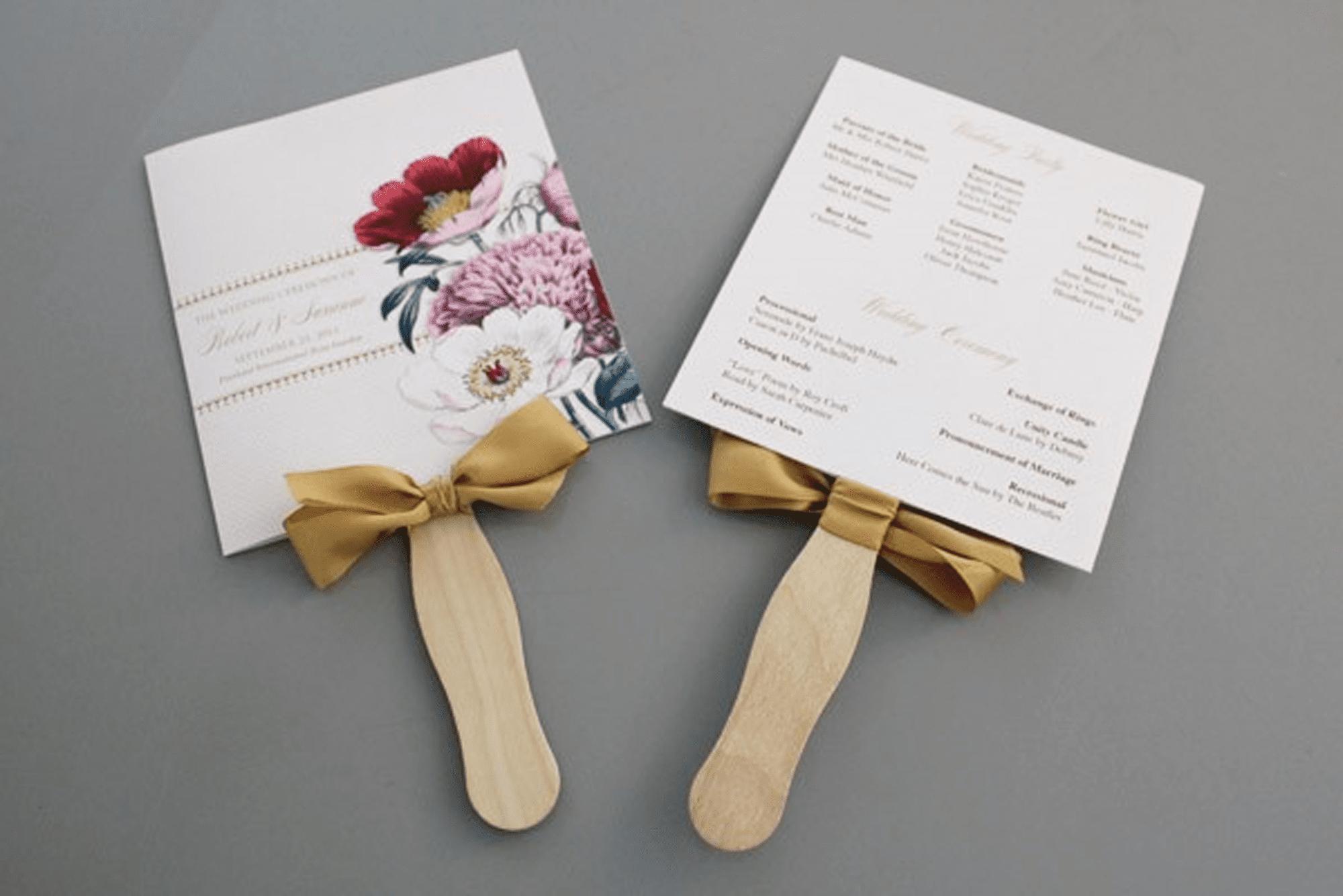 Free Wedding Program Templates You Can Customize - Free Printable Fan Wedding Programs