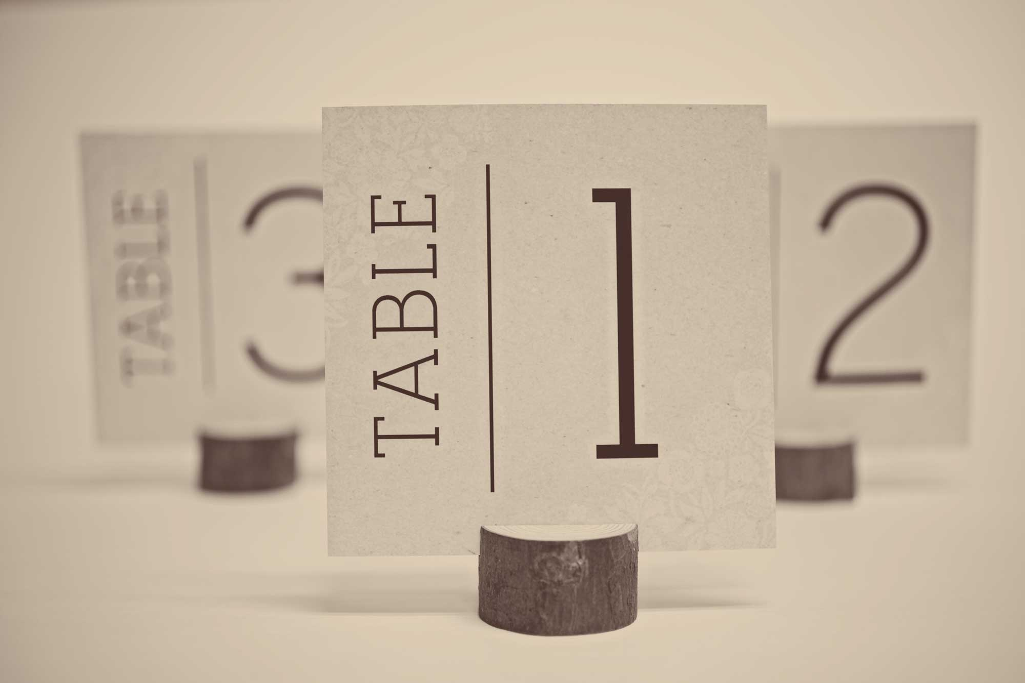Free Wedding Table Number Cards - Free Printable Table Numbers