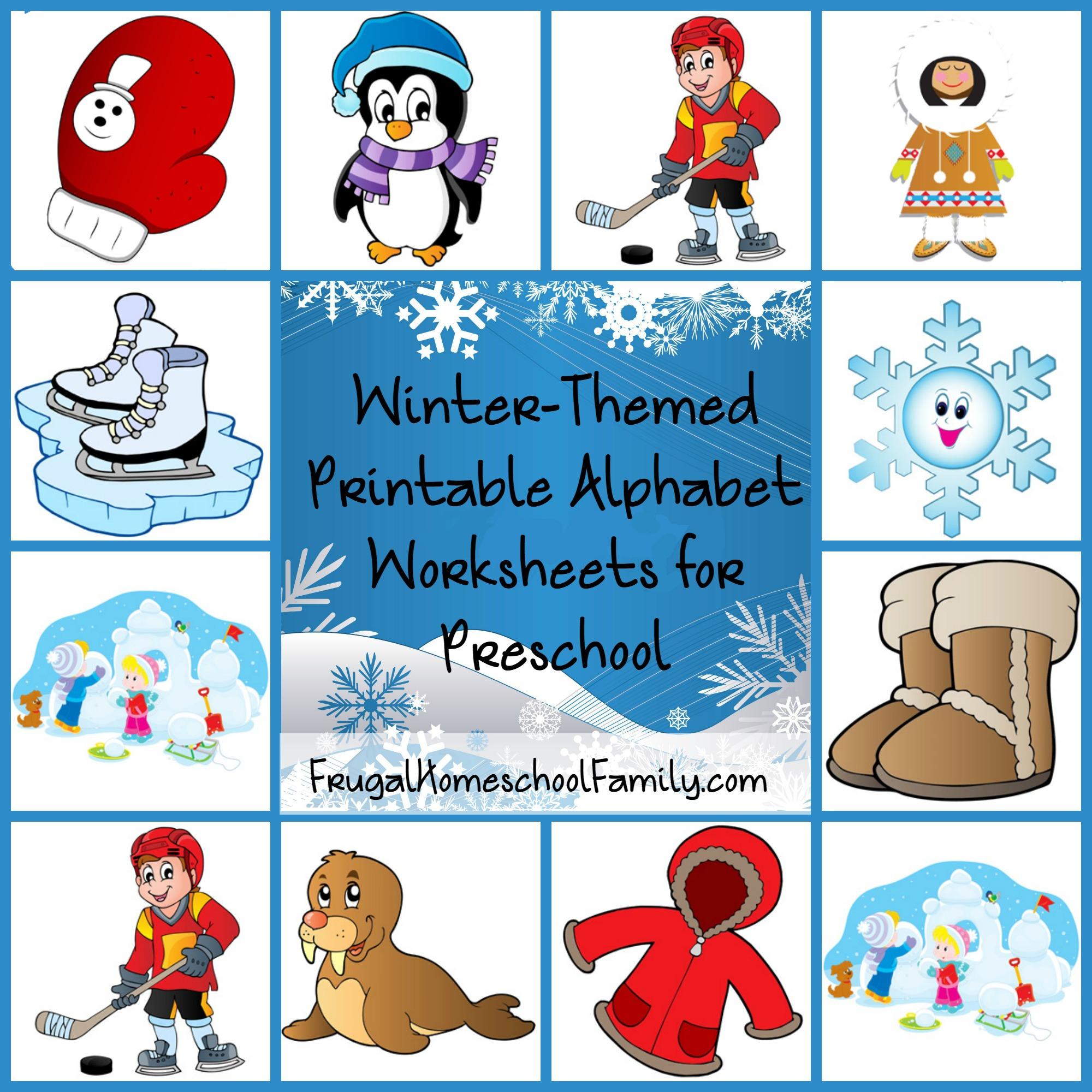 Free Winter-Themed Printable Alphabet Worksheets For Preschool - Free Printable Winter Preschool Worksheets