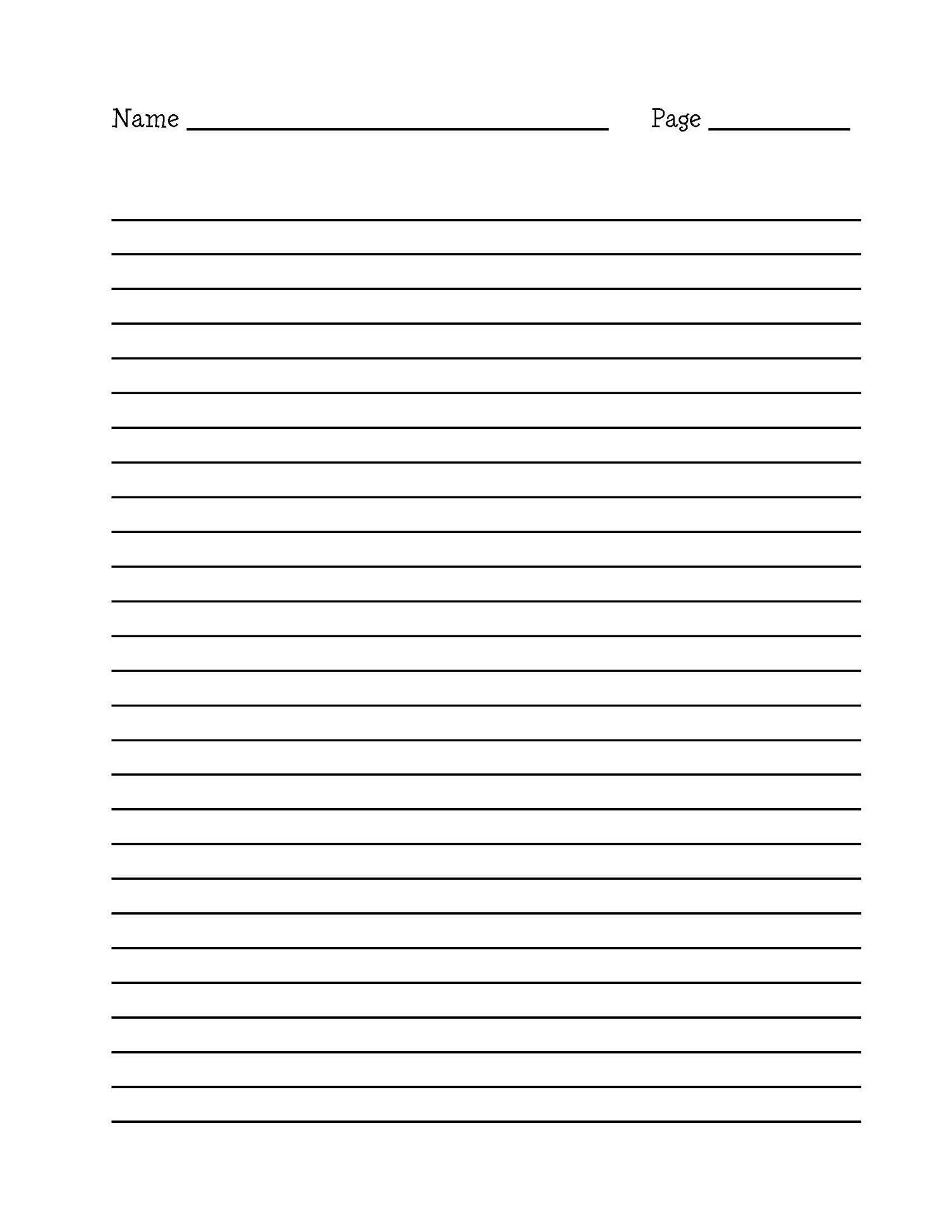 Free Writing Paper Doc Printable Writing Paper Border Writing - Elementary Lined Paper Printable Free