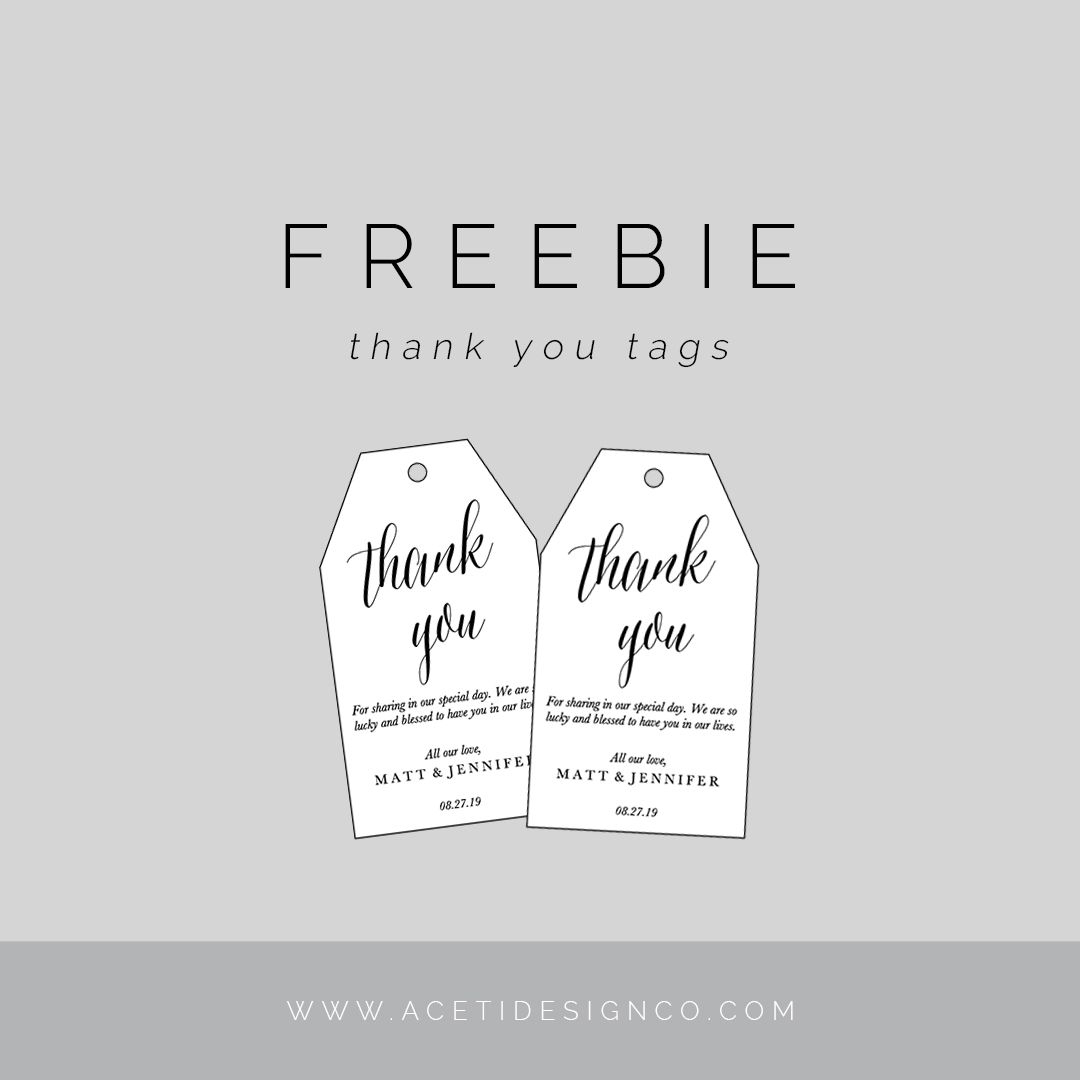 Freebie: Editable Thank You Tags | Gift Tags | Pinterest | Free - Free Printable Thank You Tags Template