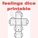 Freebie Feeling Dice Printable. Freebie Preschool Printables. Fun – Free Printable Childminding Resources