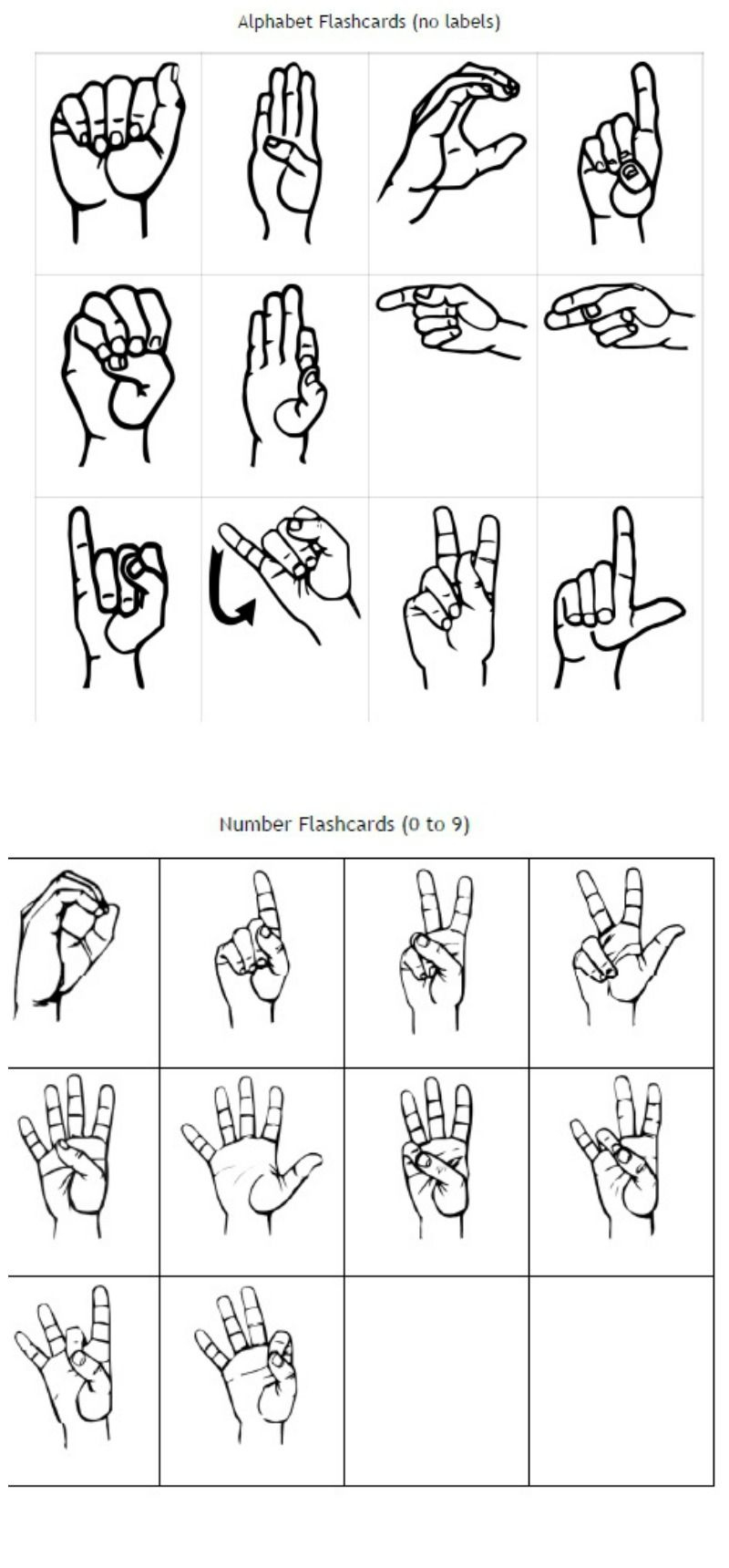 Freebie Friday: Asl Flashcards Pack | Best Of Kori At Home - Sign Language Flash Cards Free Printable