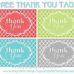 Freebie} Printable Thank You Tags | Printables | Pinterest | Thank   Free Printable Thank You Tags Template