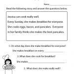Freeeducation/worksheets For Second Grade |  Comprehension   Free Printable Literacy Worksheets For Adults