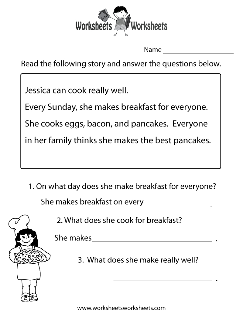 Freeeducation/worksheets For Second Grade    Comprehension - Free Printable Reading Passages With Questions
