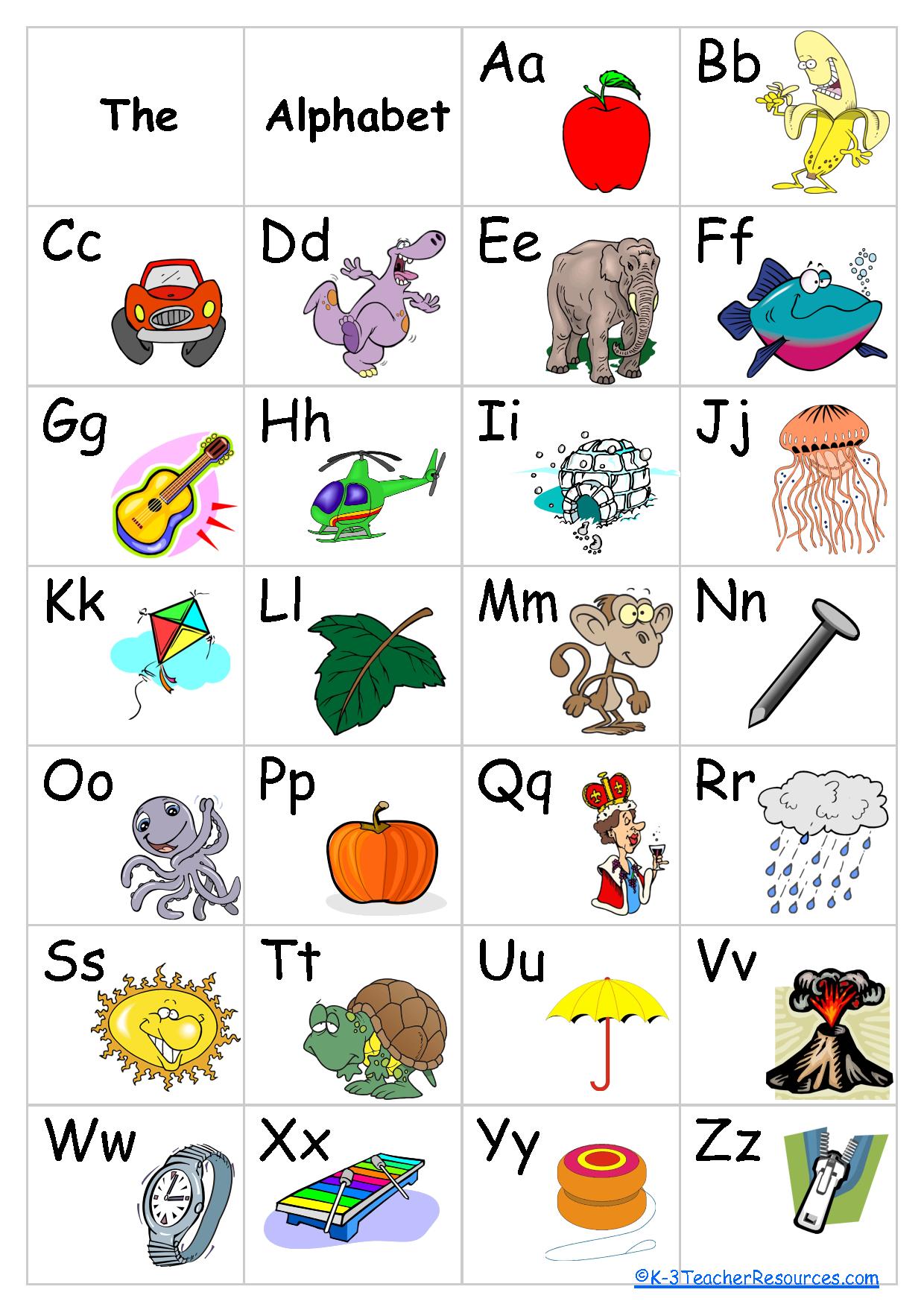 Free+Printable+Alphabet+Chart   Schoolroom Ideas   Pinterest - Free Printable Alphabet Chart