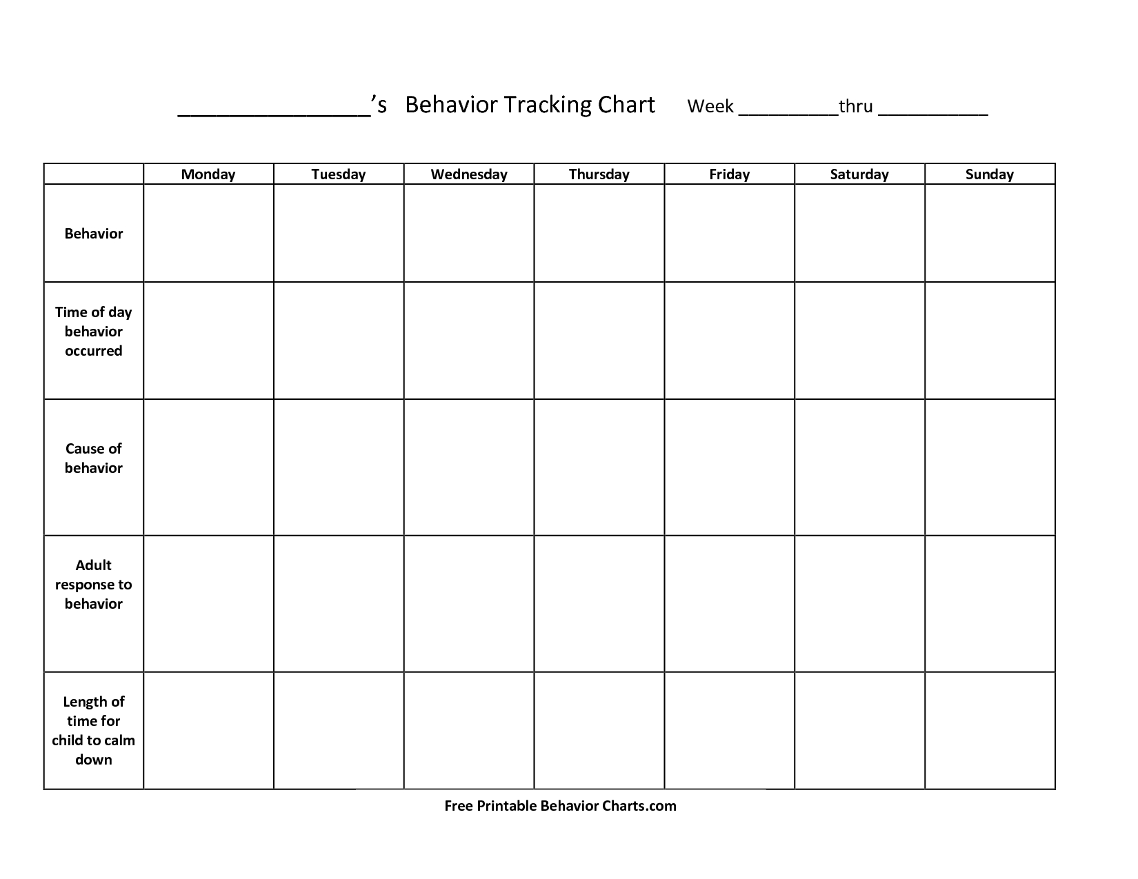 Free+Printable+Behavior+Charts+For+Teachers | Things To Try | Free - Free Printable Charts For Classroom