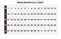 Free+Printable+Bingo+Call+Sheet   Bingo   Pinterest   Bingo, Bingo - Free Printable Bingo Cards 1 75