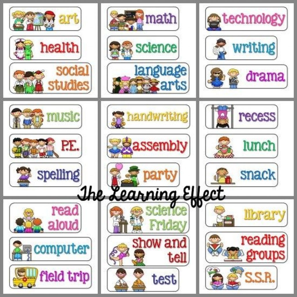 Free+Printable+Daily+Schedule+Cards+Classroom | Visual Schedule - Free Printable Picture Schedule Cards