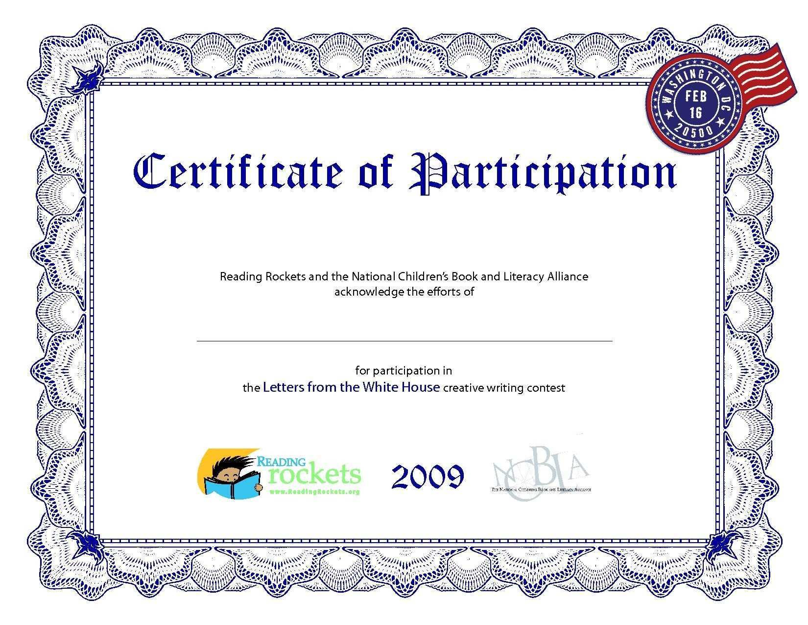 Fresh Certificate Of Participation – Crisia - Sports Certificate Templates Free Printable