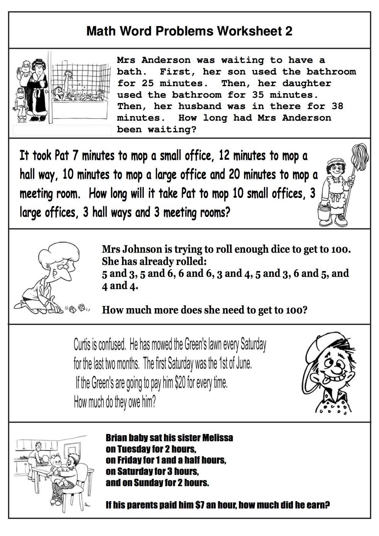 Fresh Math Word Problems For Kindergarten And First Grade   Fun - Free Printable 1St Grade Math Word Problems