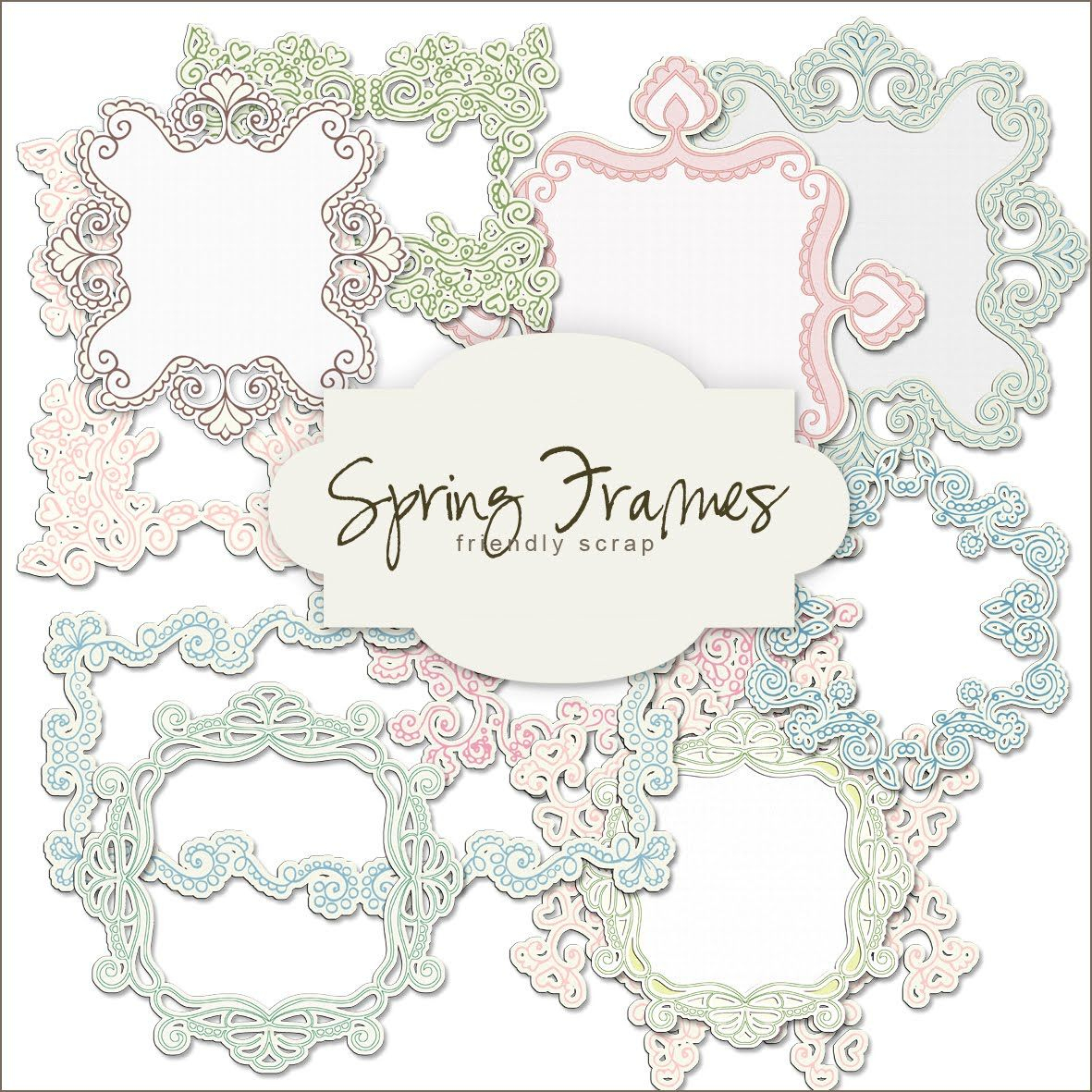 Friendly Scrap: Free Scrap Frame | Printable Frames | Scrapbook - Free Printable Frames For Scrapbooking