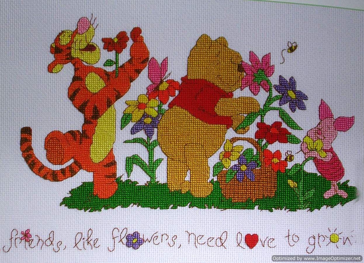 Friends And Flowers. | Friends Like Flowers - Janlynn Pattern - Free Printable Cross Stitch Patterns Flowers