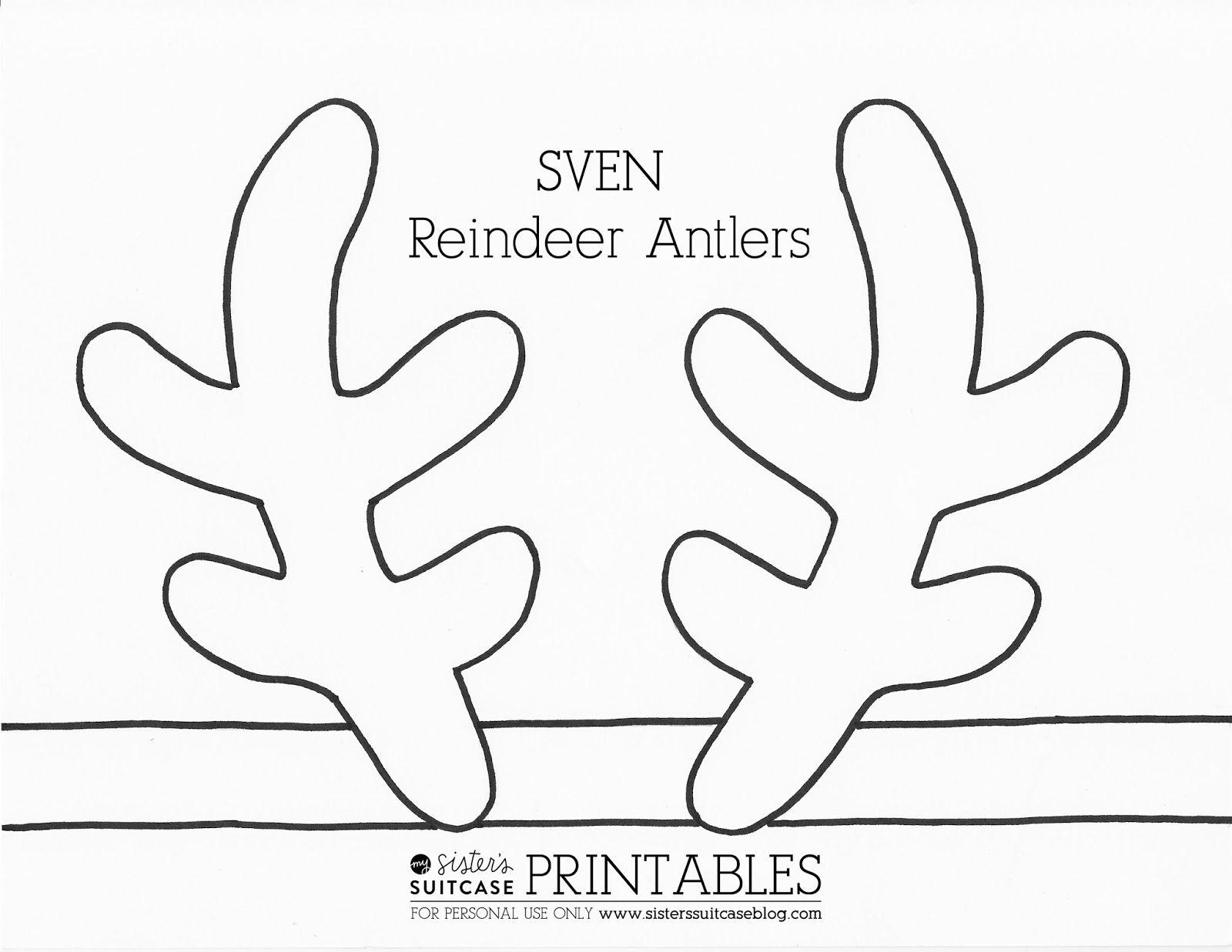 Frozen Elsa Crown Template & Sven Antler Template   Ava   Reindeer - Reindeer Antlers Template Free Printable