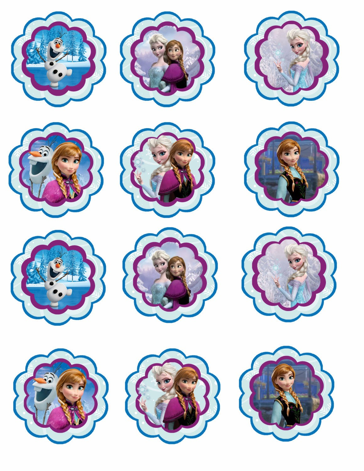 Frozen: Free Printable Toppers. | Oh My Fiesta! In English - Free Printable Mermaid Cupcake Toppers