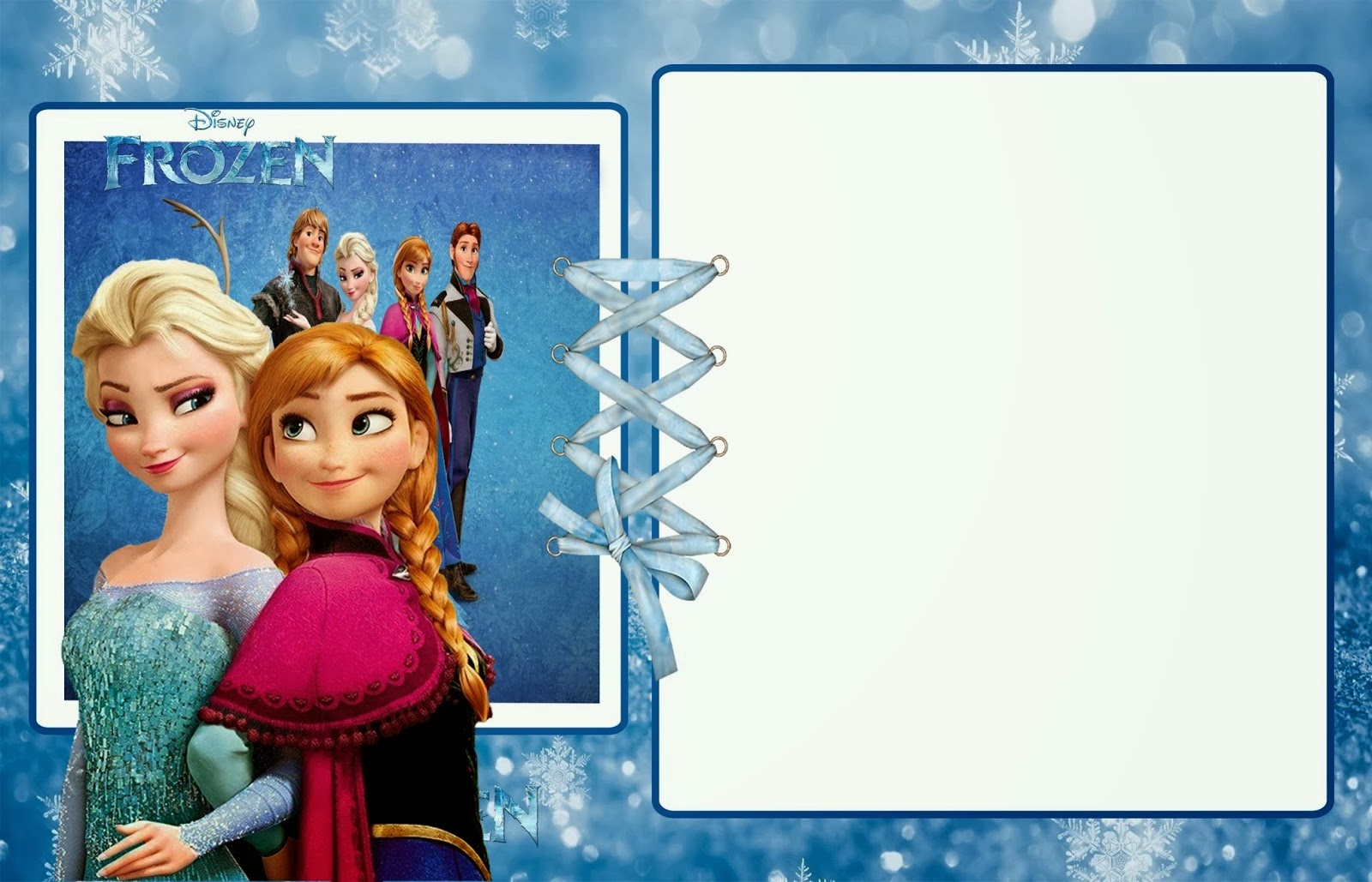 Frozen Party: Free Printable Invitations. | Oh My Fiesta! In English - Free Printable Frozen Birthday Invitations