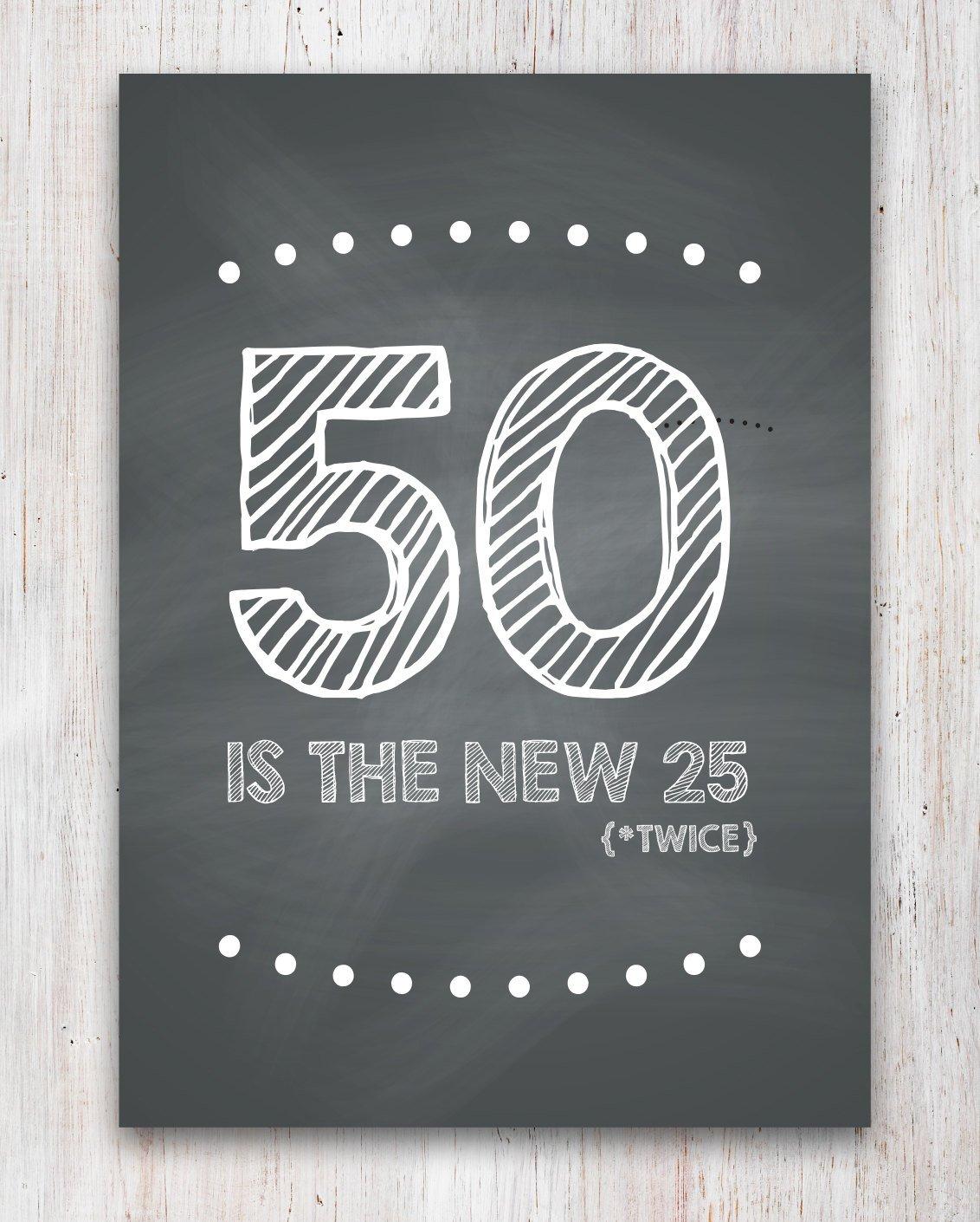 Funny 50Th Birthday Card Printable | Etsy - Free Printable 50Th Birthday Cards Funny