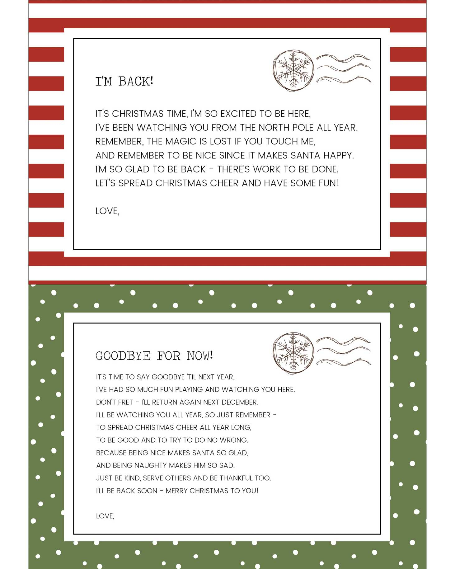 Funny Elf On The Shelf Ideas + Free Printables | Lil' Luna - Elf On The Shelf Goodbye Letter Free Printable