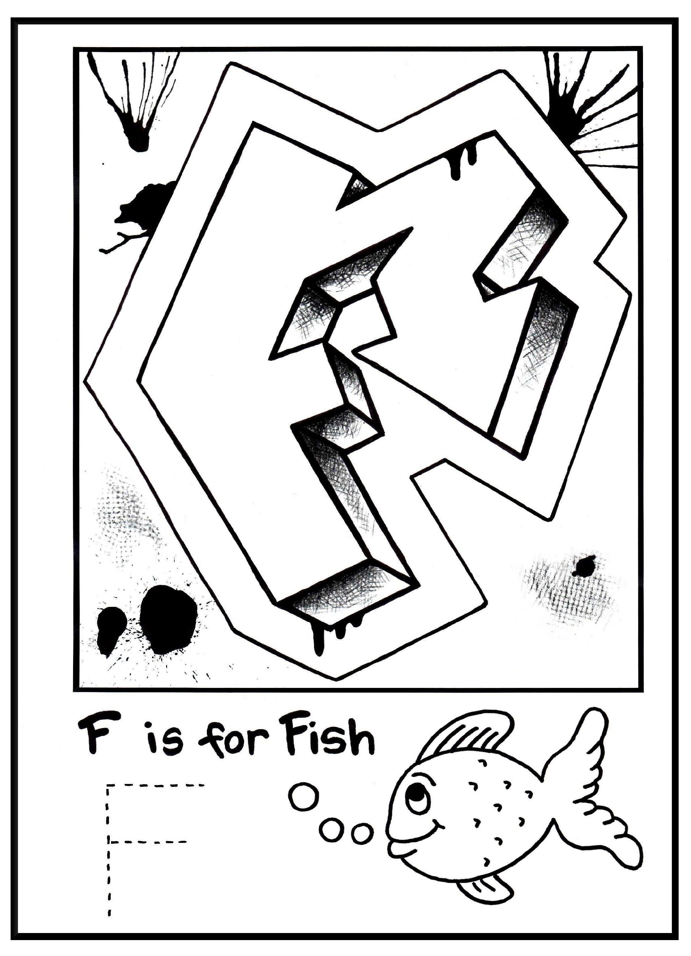 G Is For Graffiti: Alphabet Coloring Book- Free Coloring Page - Free Printable Photo Letter Art