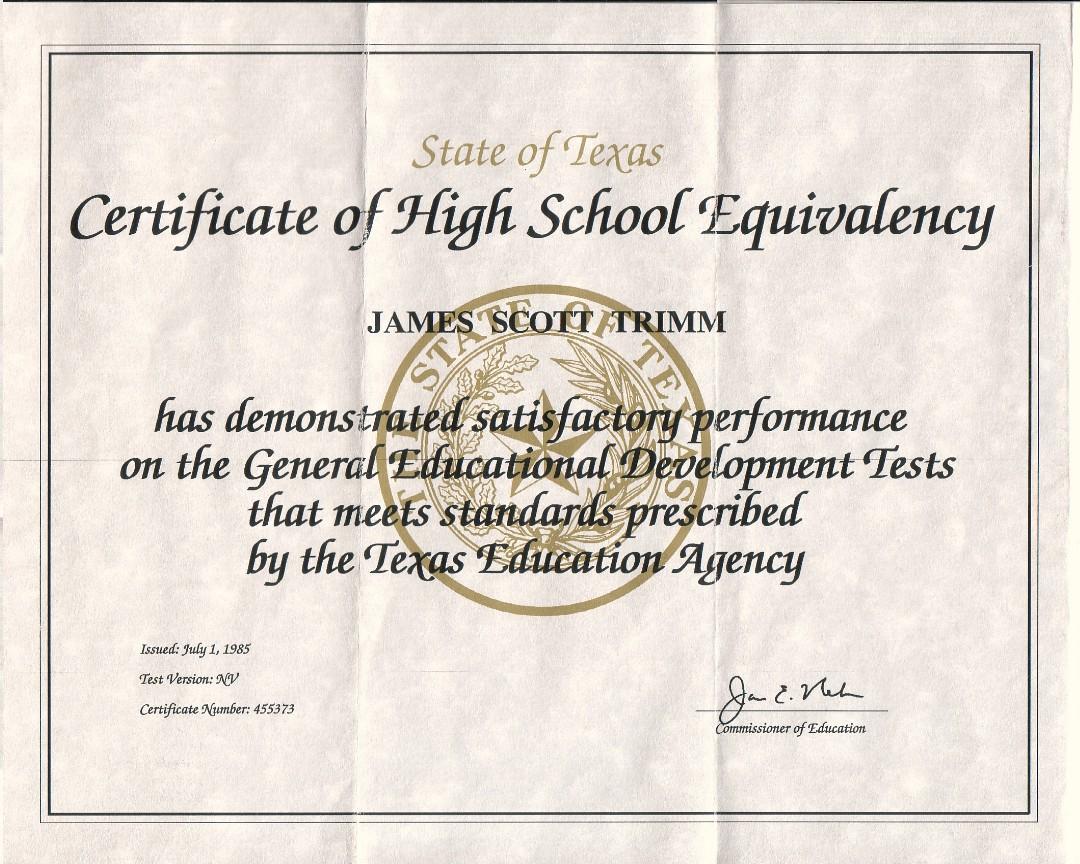 Ged Certificate Texas | Katieroseintimates - Free Printable Ged Certificate