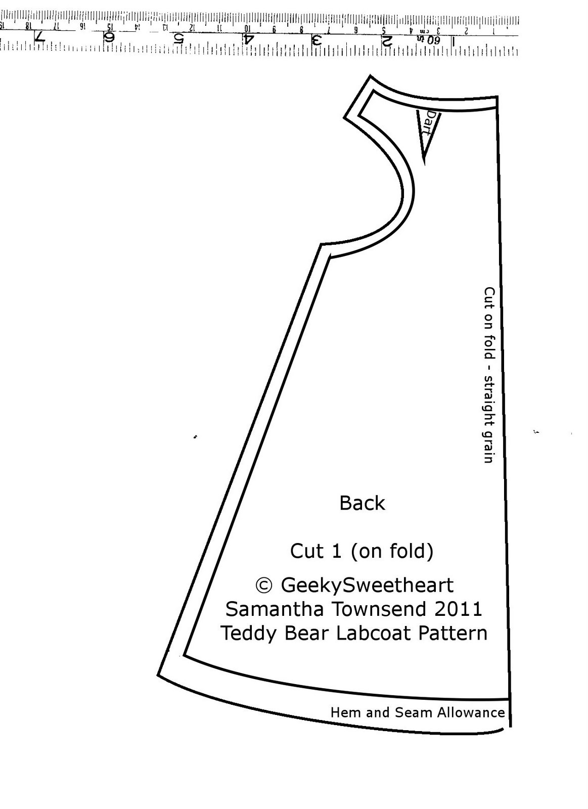 Geekysweetheart: Teddy Bear Labcoat (With Tutorial) !! - Free Printable Teddy Bear Clothes Patterns