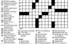 General Knowledge Easy Crossword Puzzles | Penaime - Free Printable Sunday Crossword Puzzles