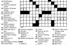 Free Easy Printable Crossword Puzzles For Adults