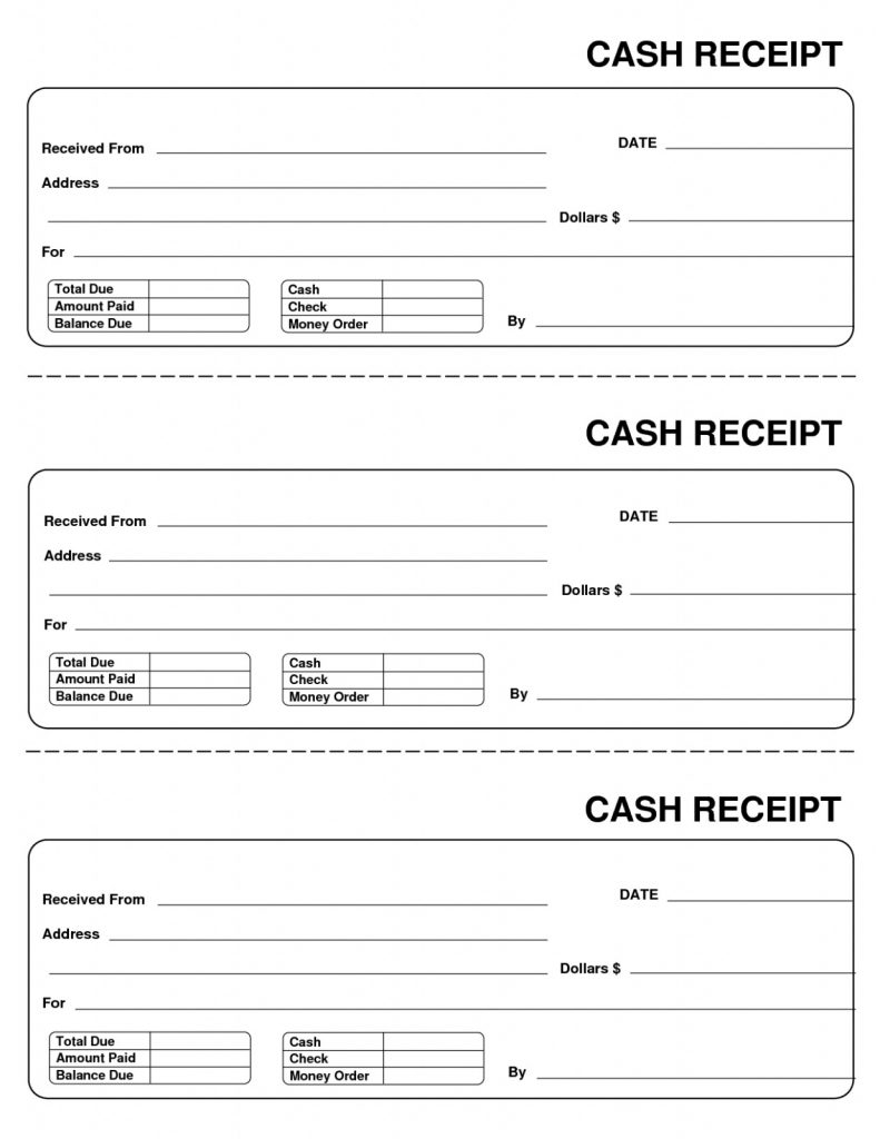 Generic Receipt Sample Forms Free Download 10 Best Of Blank Template - Free Printable Receipts