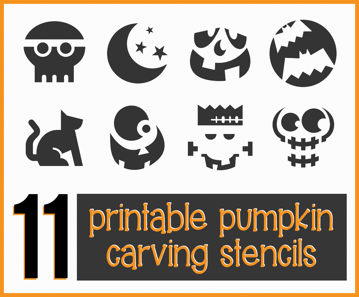 Get 11 Easy, Free Printable Pumpkin-Carving Stencils To Help You - Free Printable Pumpkin Carving Stencils For Kids