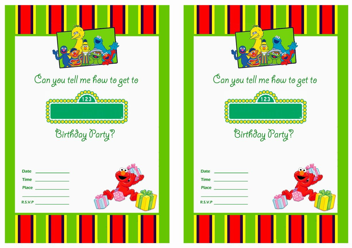 Get Free Printable Sesame Street 1St Birthday Invitations Templates - Free Printable Sesame Street Cupcake Toppers