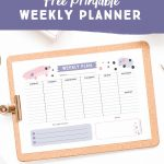 Get Organised With This Free Printable Weekly Planner   Cute   Planner Printable Free