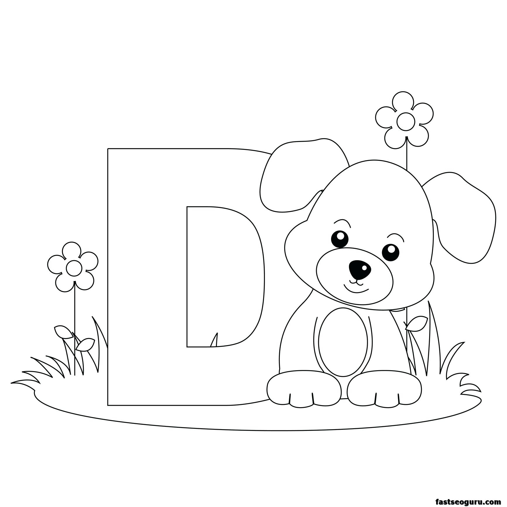 Get The Free Printable Alphabet Coloring Pages For Kids Of Animals - Free Printable Preschool Alphabet Coloring Pages