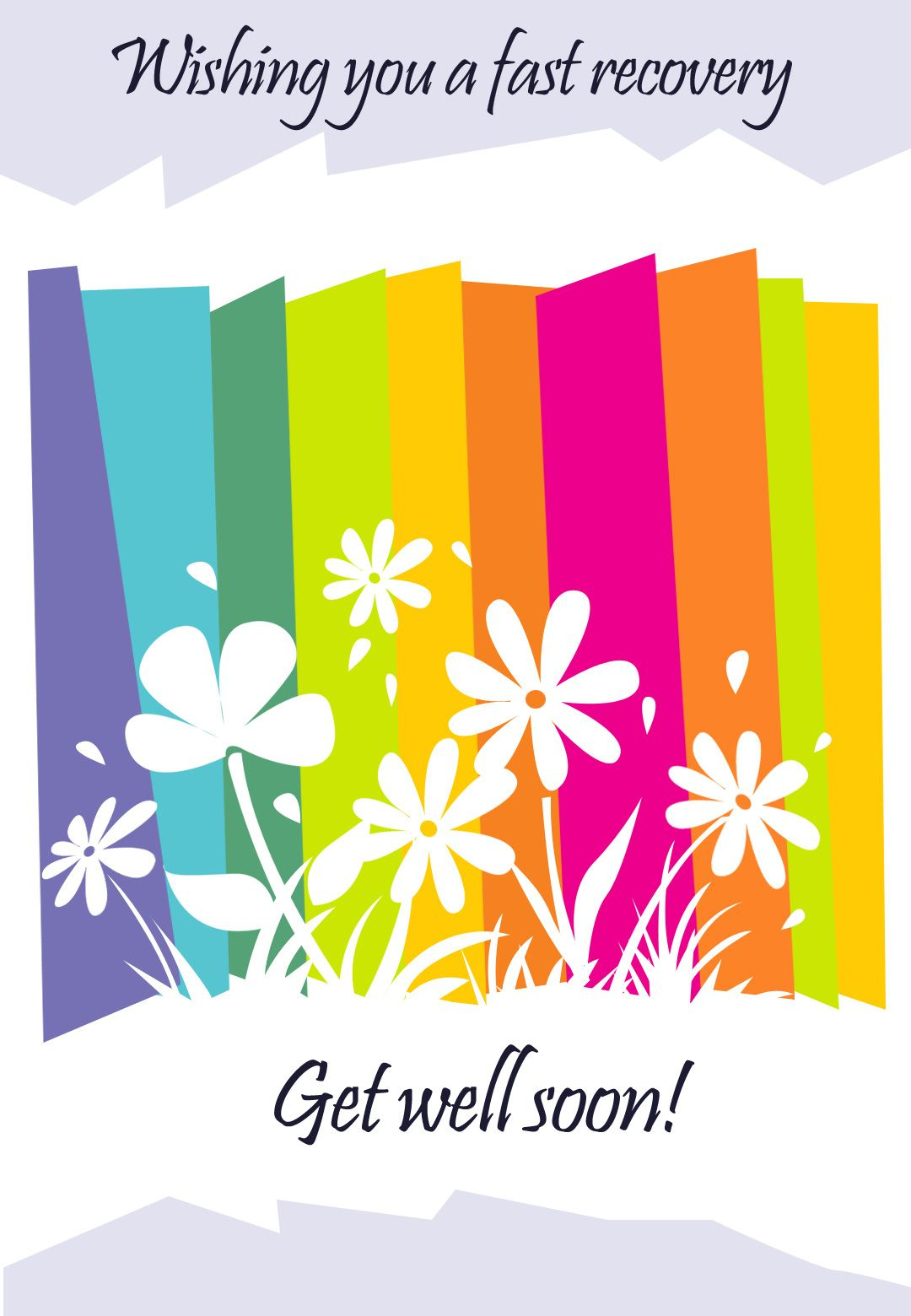 Get Well #card Free Printable - Fast Recovery Flowers Greeting Card - Free Printable Get Well Cards
