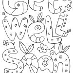Get Well Soon Doodle Coloring Page | Free Printable Coloring Pages   Free Printable Get Well Cards To Color
