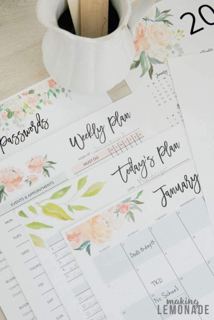 Free 2018 Planner Printable
