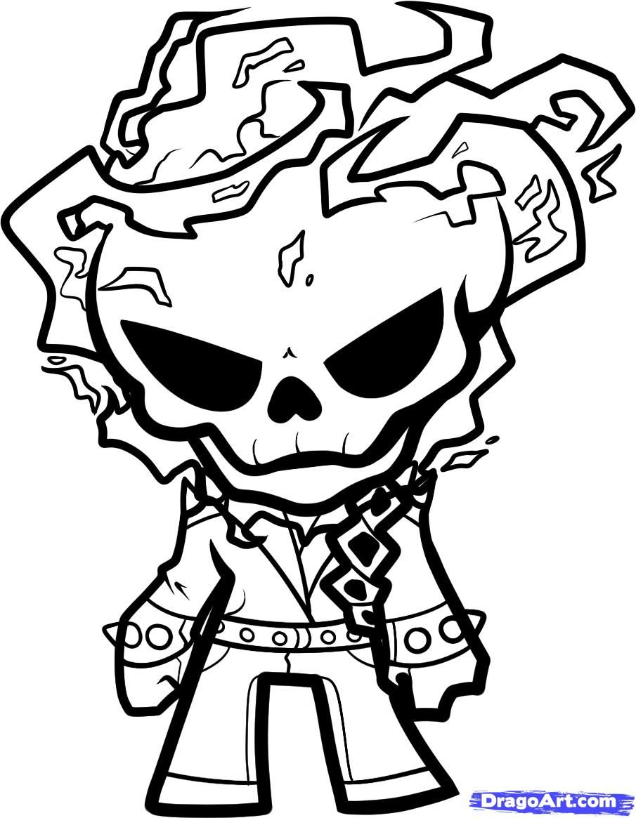 Ghost Rider Coloring Page | Skull's 1 (All Things Skulls - Free Printable Ghost Rider Coloring Pages