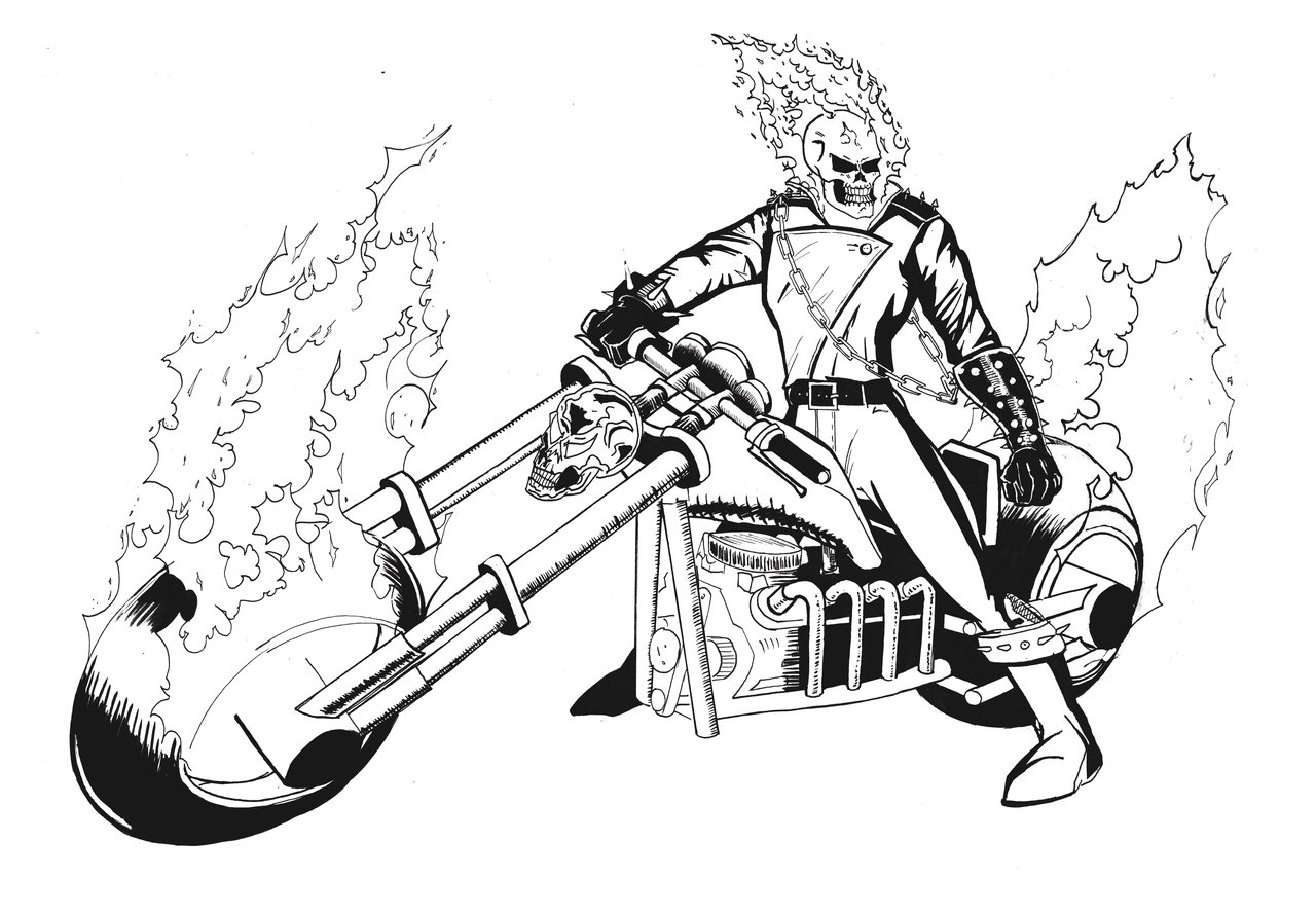 Ghost Rider Coloring Pages - Free Printable Ghost Rider Coloring Pages