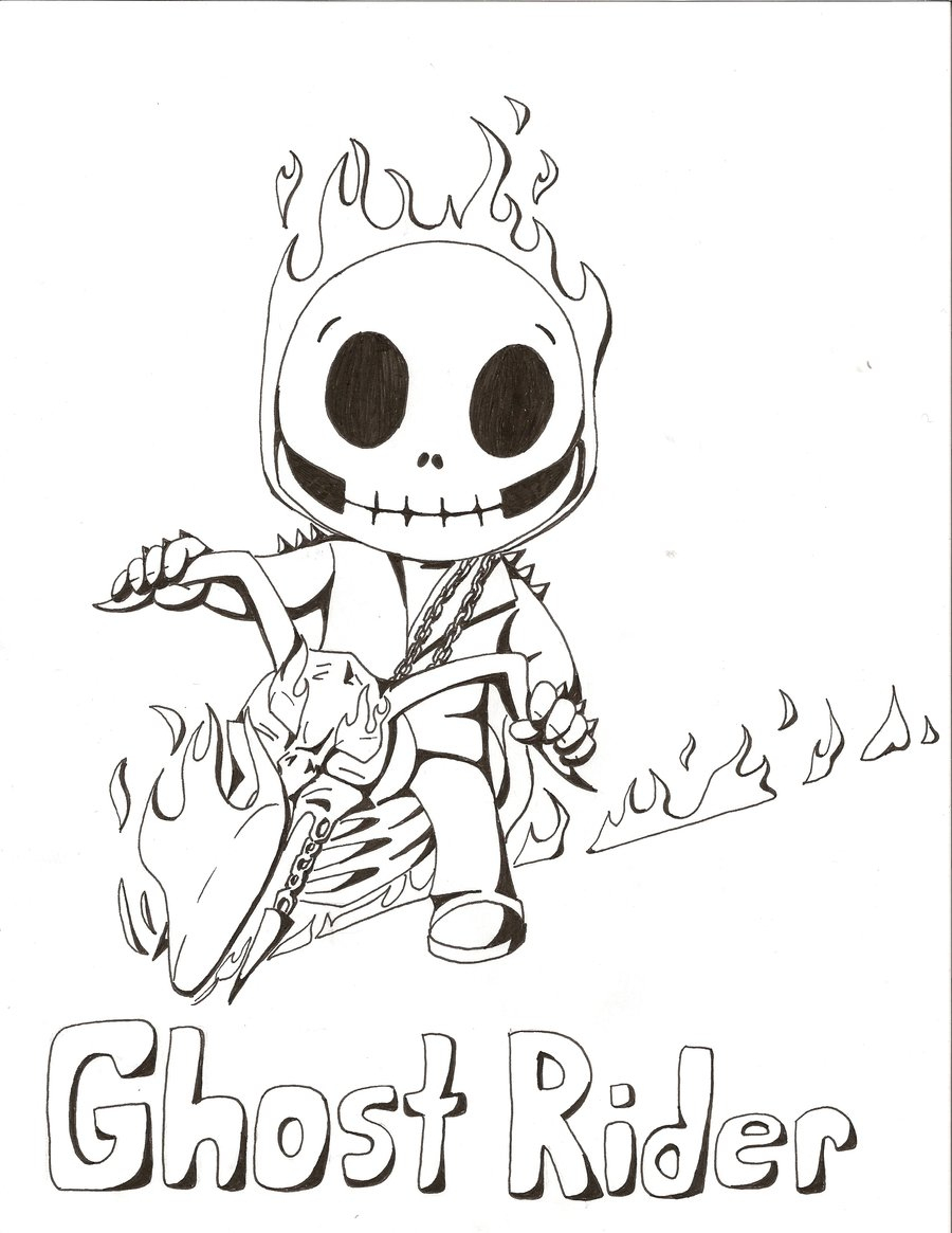 Ghost Rider Coloring Pages - Monesmapyrene - Free Printable Ghost Rider Coloring Pages