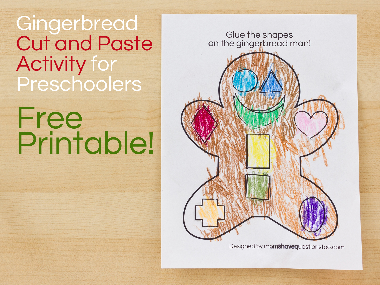 Gingerbread Man Cut And Paste Preschool Activity - Moms Have - Free Printable Version Of The Gingerbread Man Story