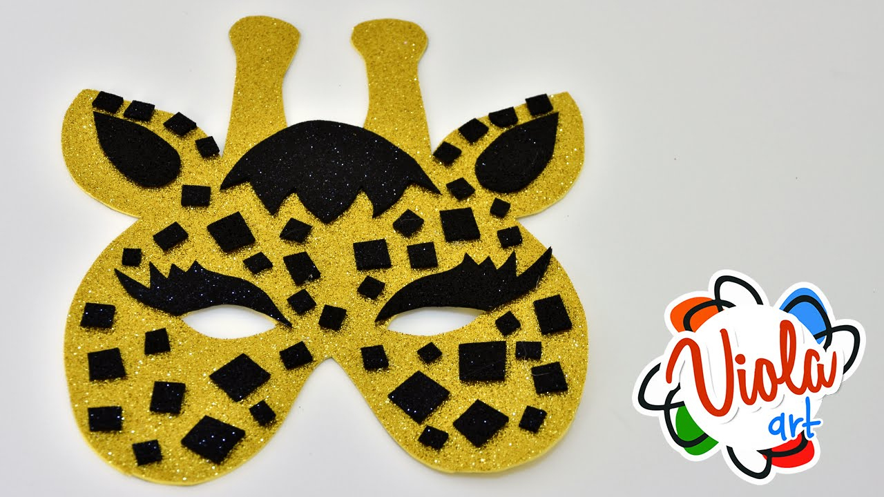 Giraffe Mask For Kids - How To Make It - Diy Foam Crafts Tutorial - Giraffe Mask Template Printable Free