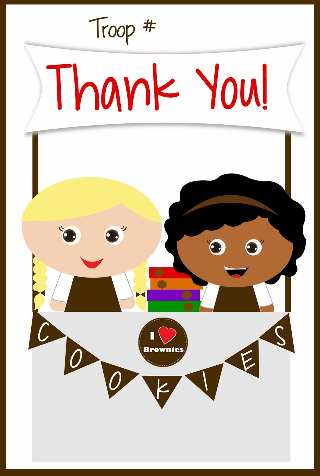Girls Scouts - Free Printable Brownies Thank You Cards - Cookie - Free Printable Eagle Scout Thank You Cards
